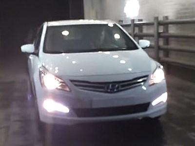 Появились первые видео-изображения обновленного Hyundai Solaris