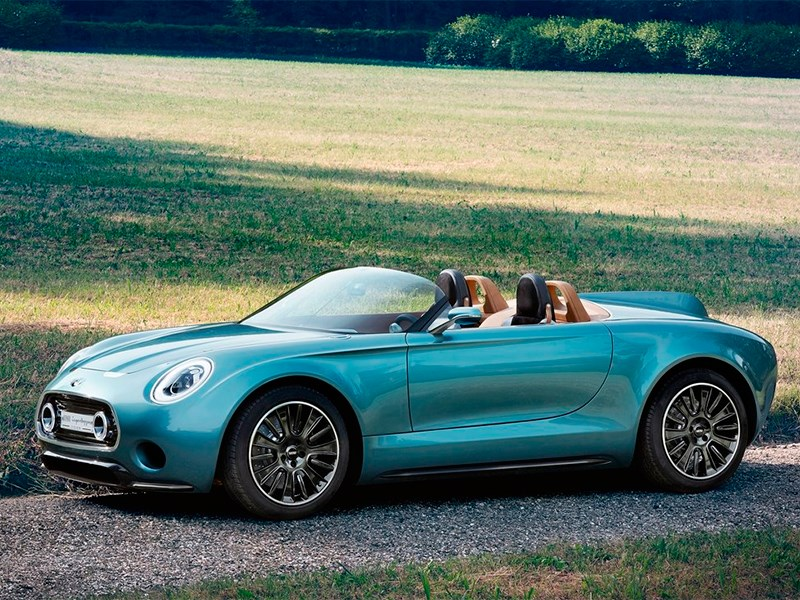 MINI Superleggera Vision concept 2014 вид спереди сбоку