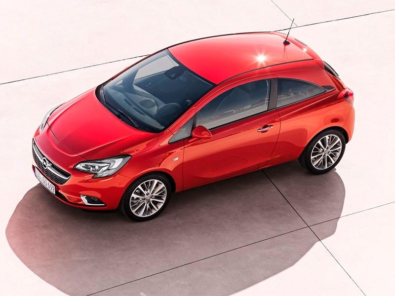 Opel Corsa 2015 вид сверху