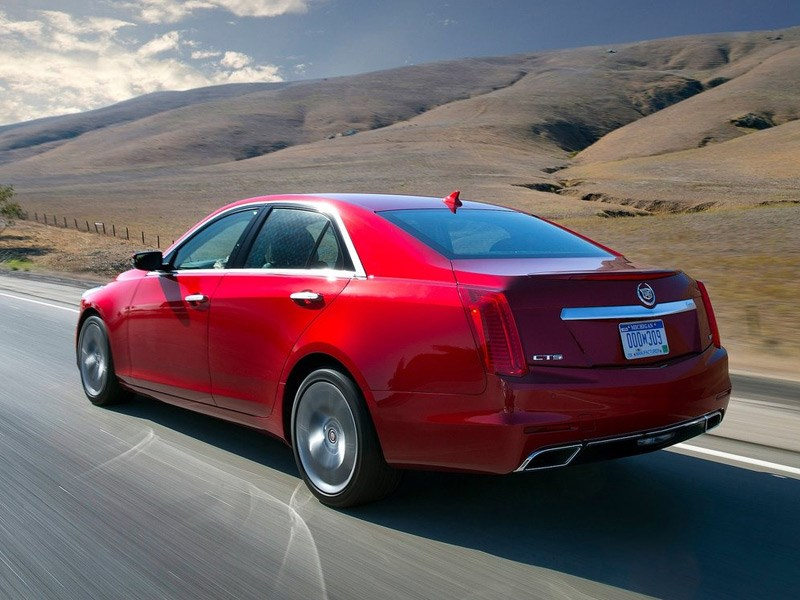 Cadillac CTS 2014 вид сзади