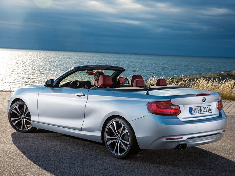 BMW 2 Series Convertible 2014 вид сзади