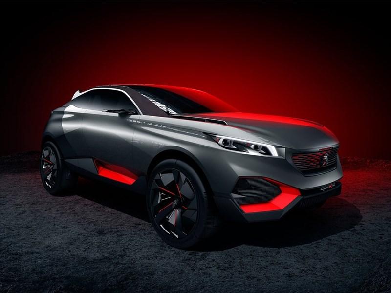 Peugeot Quartz Concept 2014 вид спереди сбоку