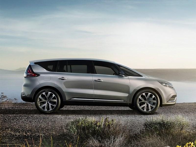 Renault Espace 2015 вид сбоку
