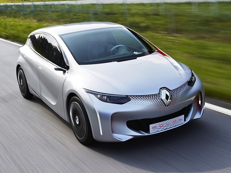 Renault Eolab Concept 2014 вид спереди сверху