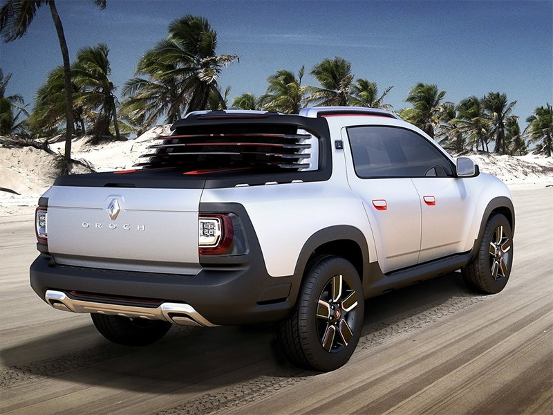 Renault Duster Oroch concept 2014 вид сзади