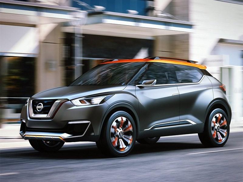 Nissan Kicks concept 2014 вид спереди сбоку