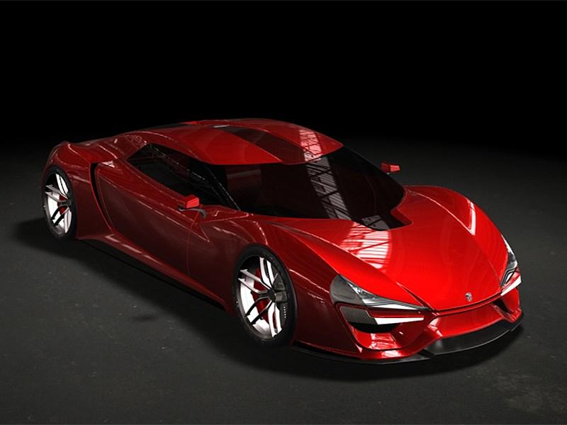 Trion SuperCars Nemesis 2015 вид сверху красный
