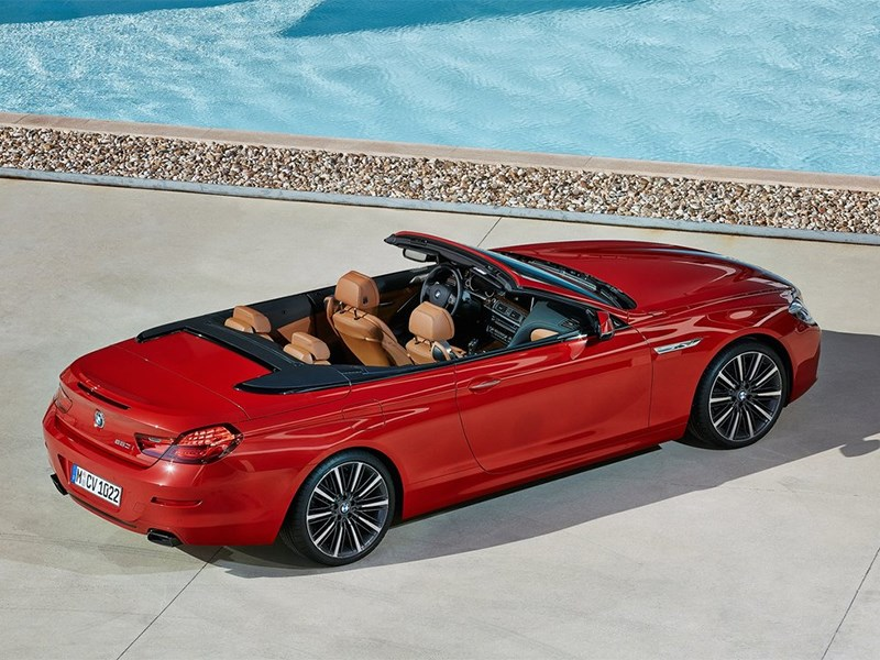 BMW 6-Series Convertible 2015 вид сверху