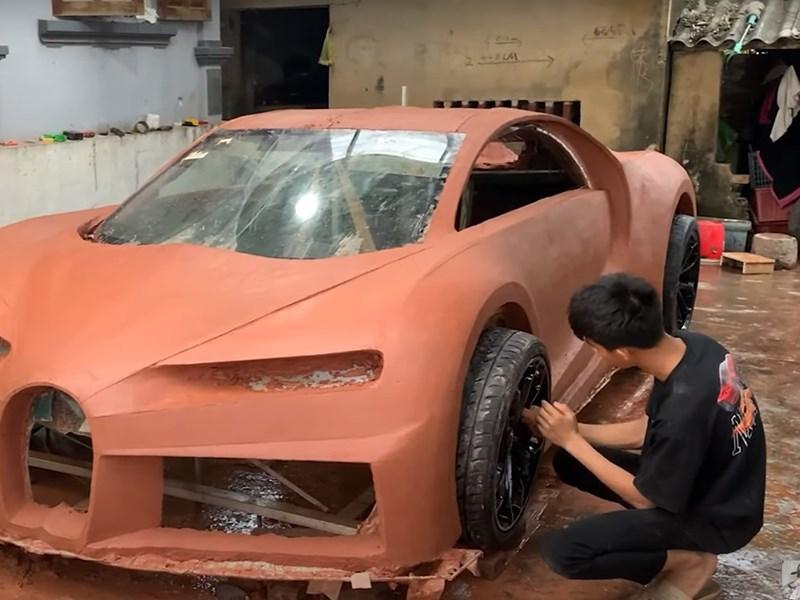 Bugatti Chiron получил глиняное воплощение