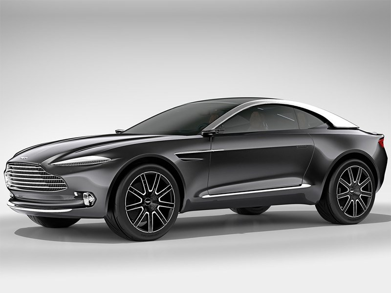 Aston Martin DBX Concept 2015 вид спереди сбоку