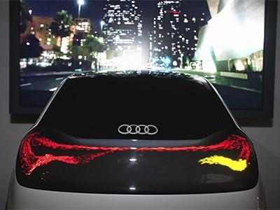 Audi разработала матричные фары на органических светодиодах