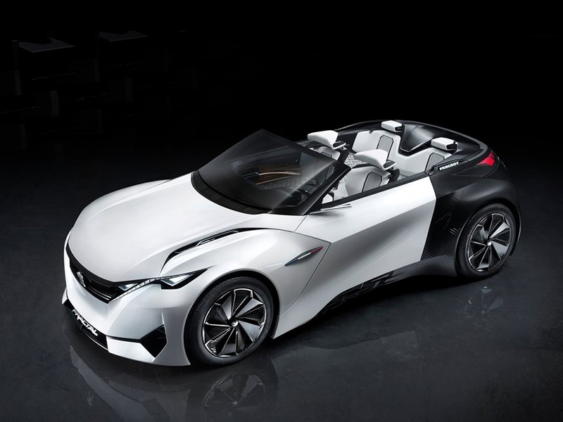 Peugeot Fractal Concept 2015 вид спереди сверху 2
