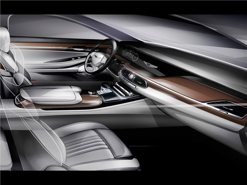 Hyundai Genesis G90 Concept 2015 салон