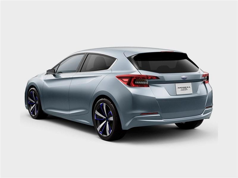 Subaru Impreza 5-Door concept 2015 вид сбоку сзади 3