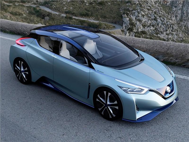 Nissan IDS concept 2015 вид спереди сверху