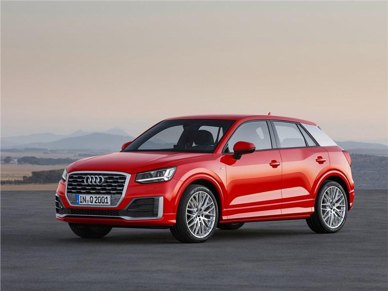 Audi Q2 2017 вид спереди сбоку