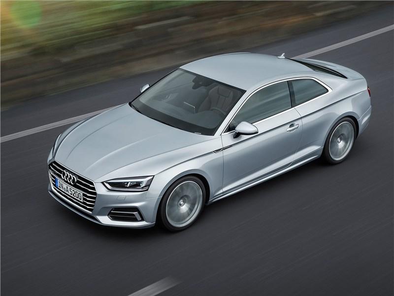 Audi A5 Coupe 2017 вид сверху
