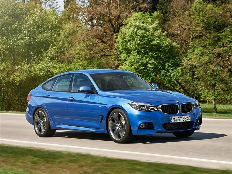 BMW 3 series GT 2017 вид спереди сбоку