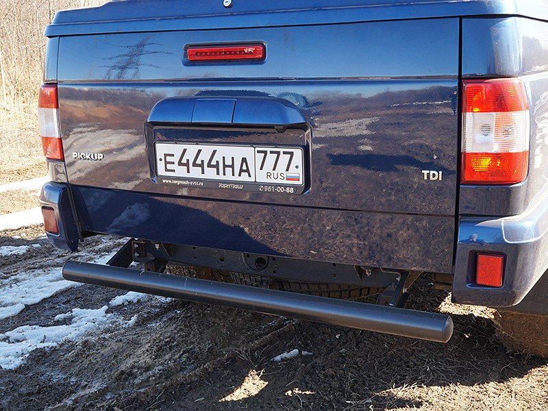 UAZ Pickup 2014 противоподкатный брус