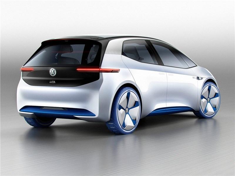 Volkswagen I.D. concept 2016 вид сзади