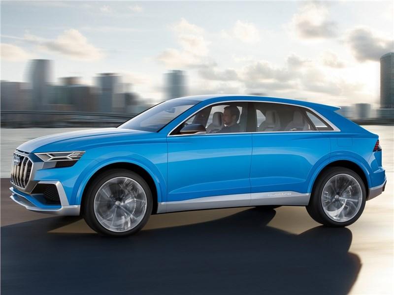 Audi Q8 concept 2017 вид сбоку