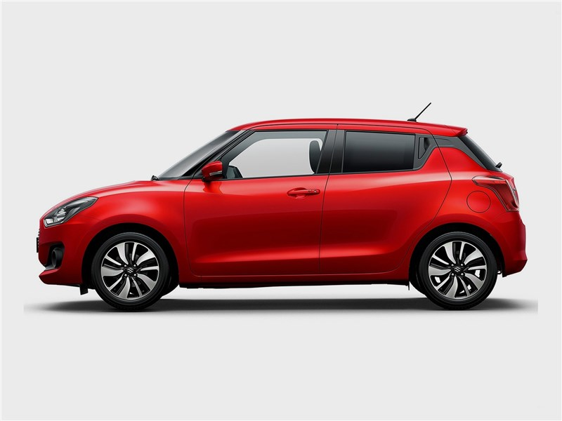 Suzuki Swift 2017 вид сбоку