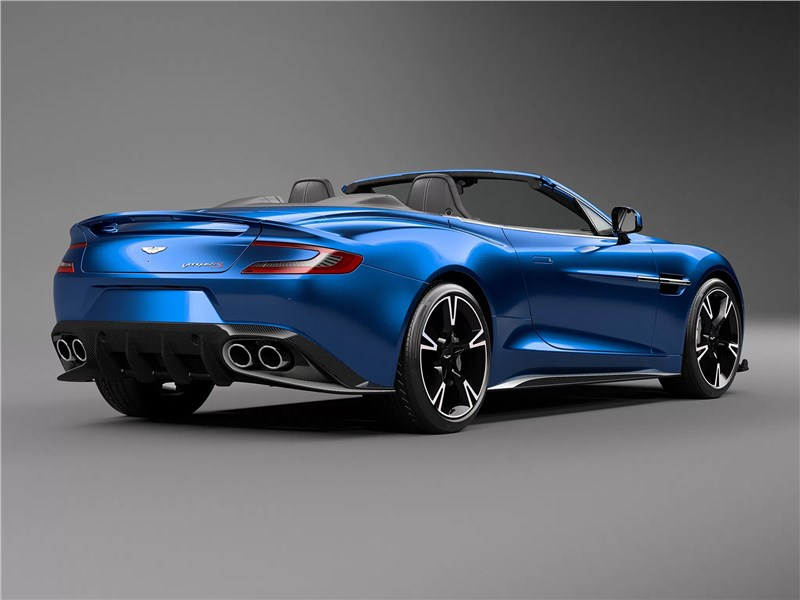 Aston Martin Vanquish S Volante 2017 вид сбоку сзади