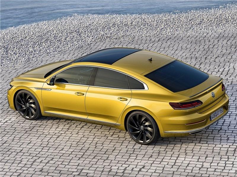 Volkswagen Arteon 2018 вид сверху