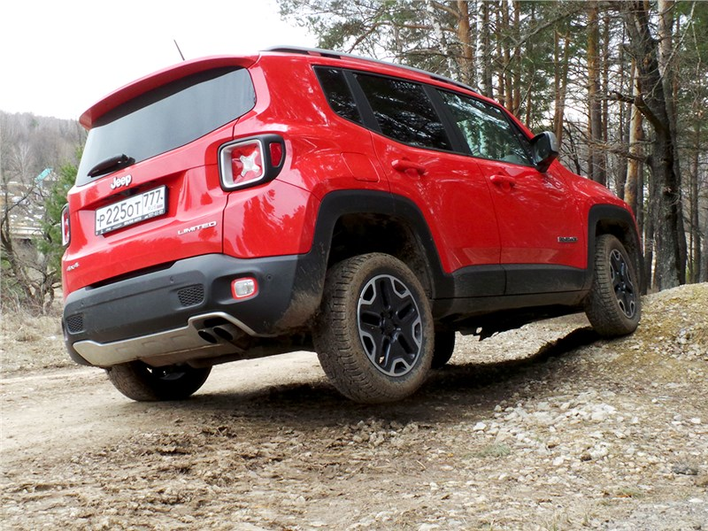 Jeep Renegade 2014 вид сзади