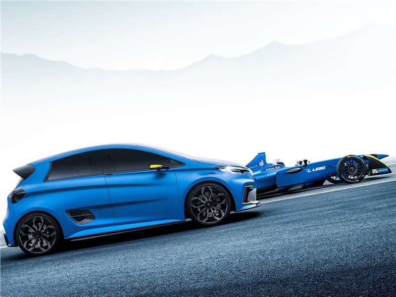Renault Zoe e-Sport Concept 2017 вид сбоку