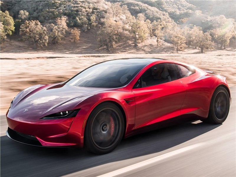Tesla Rodster Concept 2020 вид спереди сбоку