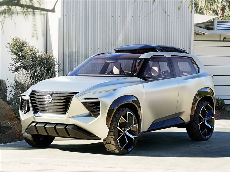 Nissan Xmotion Concept 2018 вид спереди сбоку