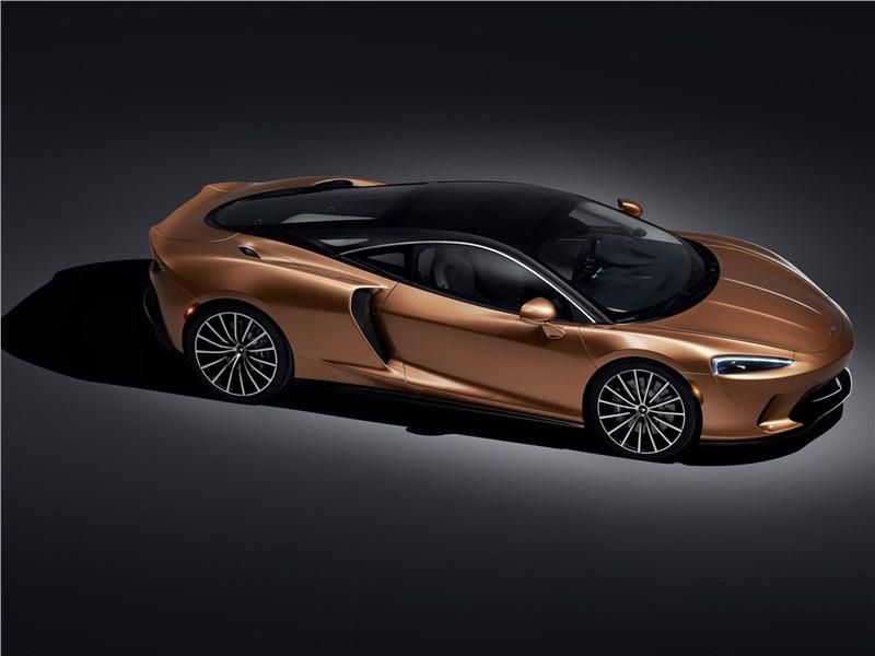 McLaren GT 2020 вид сбоку сверху