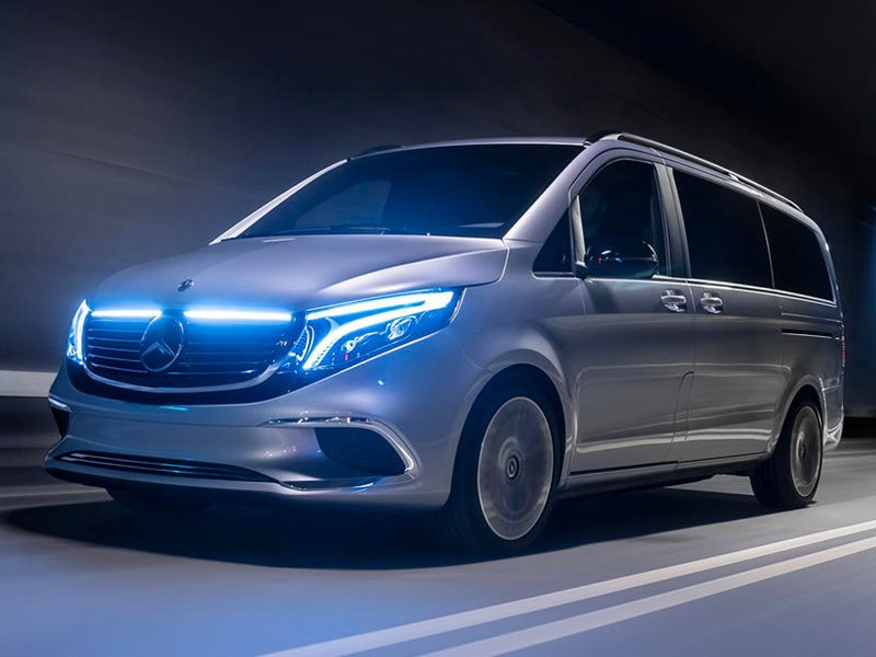 Серийный электровэн Mercedes Benz с запасом хода 400 км представят в сентябре Фото Авто Коломна