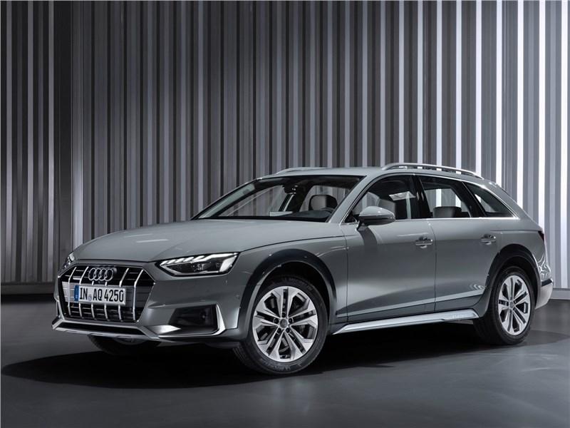 Audi A4 allroad quattro 2020 вид спереди сбоку