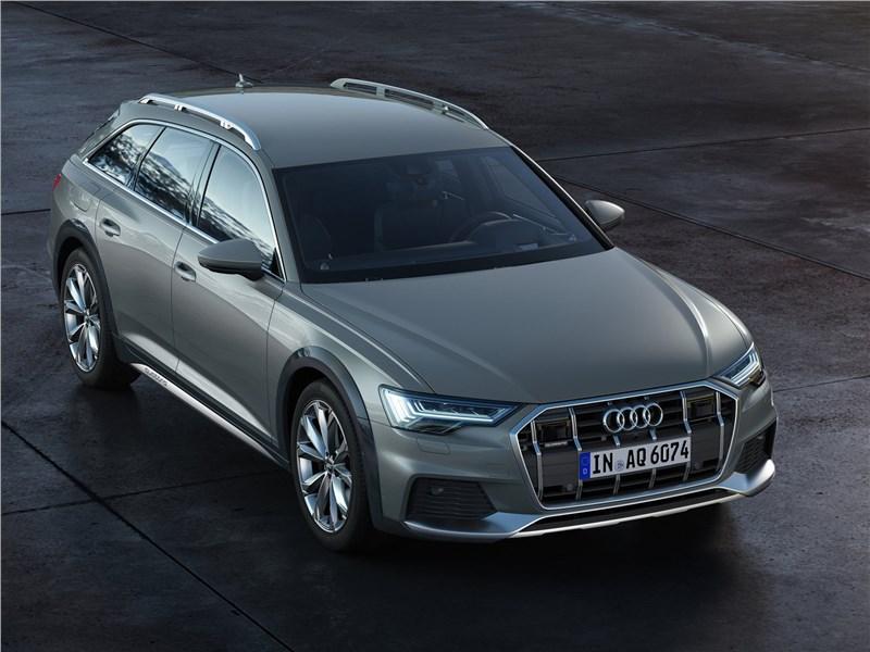 Audi A6 allroad quattro 2020 вид спереди сверху