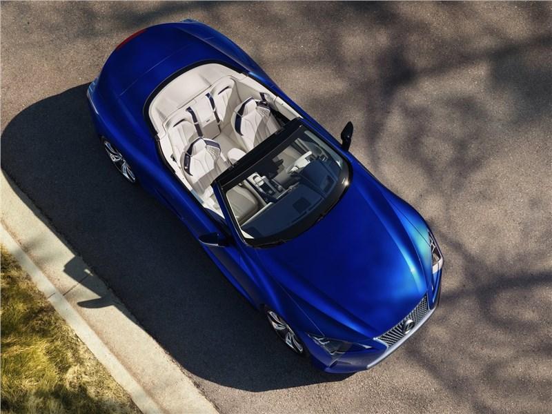 Lexus LC 500 Convertible 2021 вид сверху