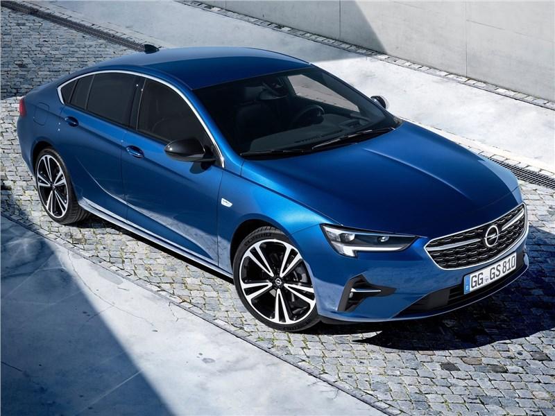 Opel Insignia 2020 вид сверху