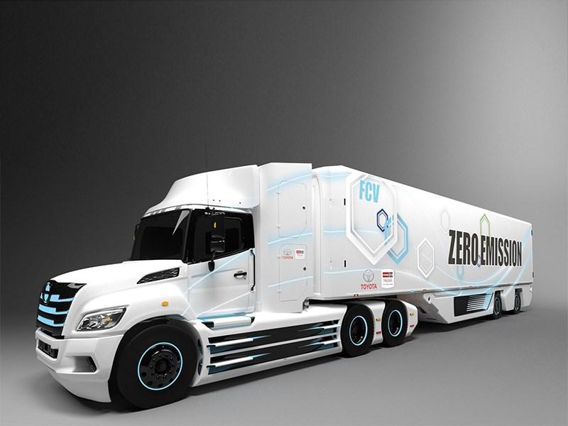 Toyota разработает электрический грузовик на топливных элементах