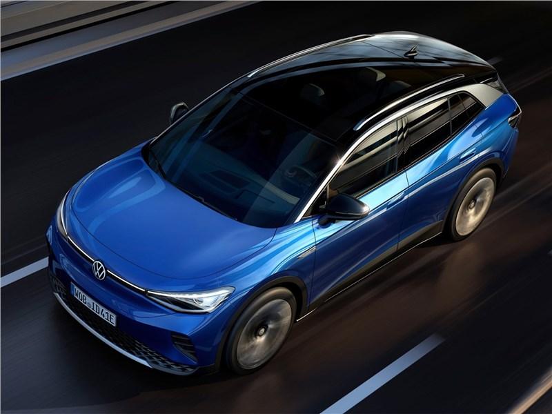 Volkswagen ID.4 (2021) вид спереди сверху