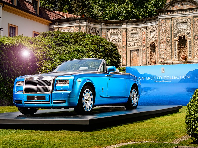 Rolls-Royce Phantom Drophead Coupe Waterspeed Collection 2014 вид спереди сбоку