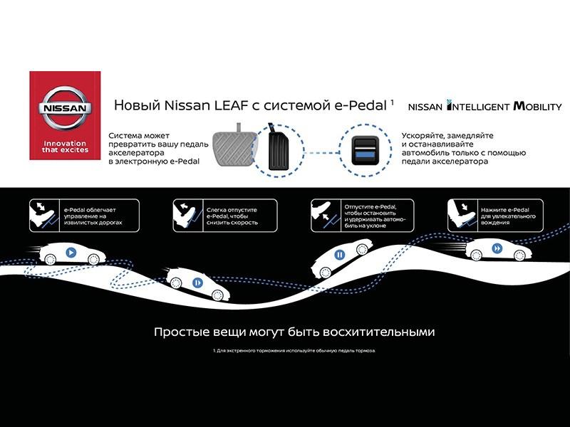 Компания Ниссан заменит «газ», «тормоз» и остальные функции управления одной педалью