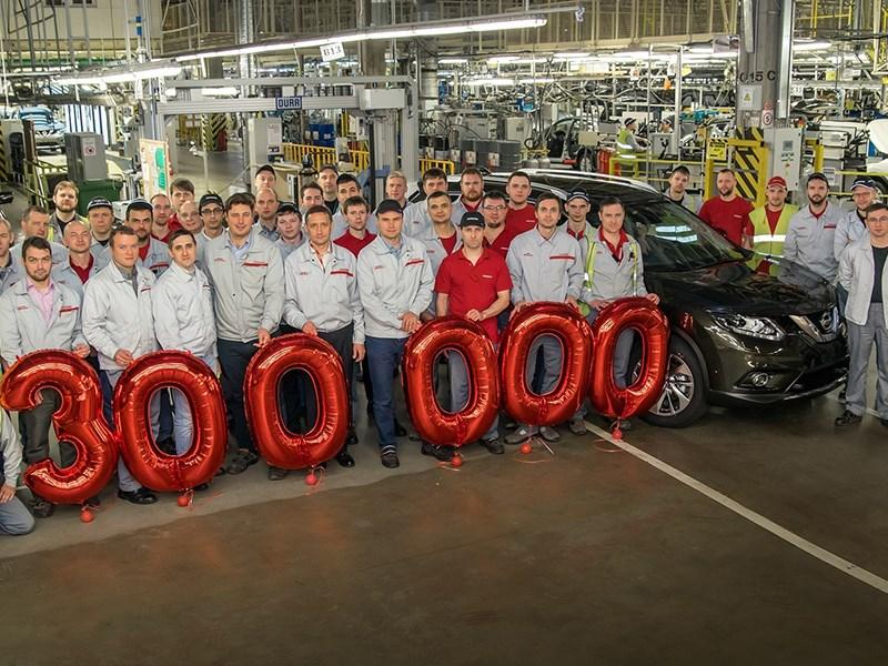 Nissan выпустил 300-тысячный автомобиль в Санкт-Петербурге