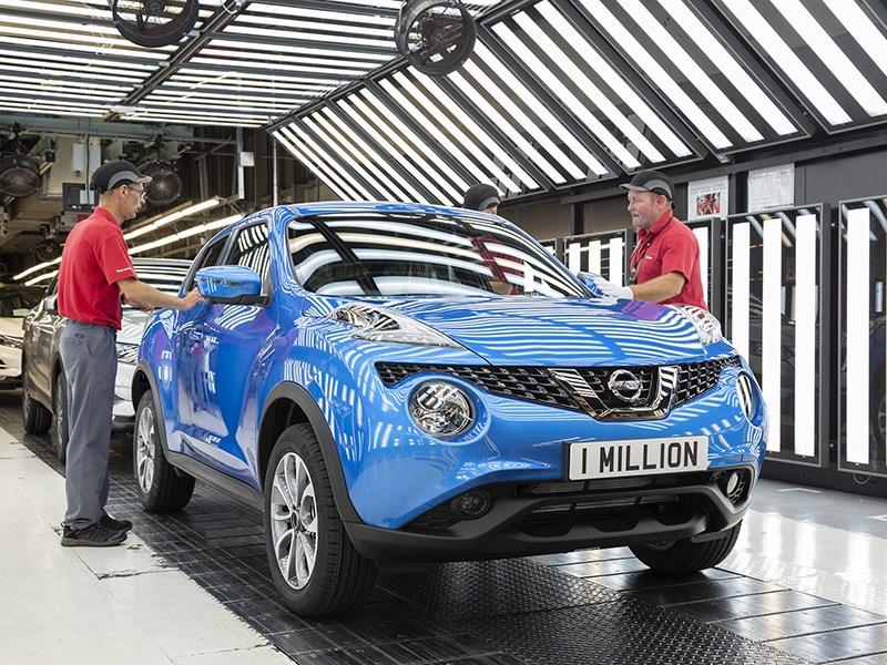 На заводе Nissan в Великобритании выпущен миллионный Juke Фото Авто Коломна
