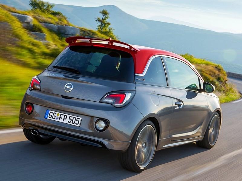 Opel Adam S 2014 вид сзади