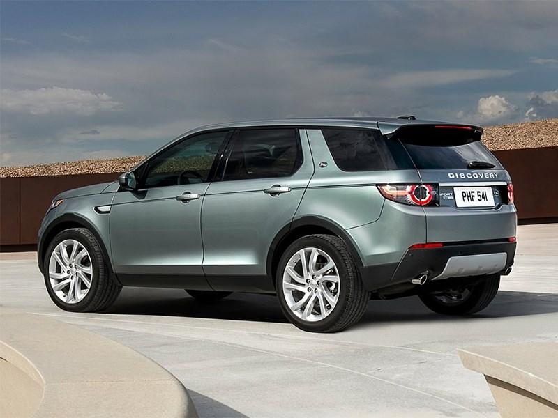 Land Rover Discovery Sport 2015 вид сзади сбоку