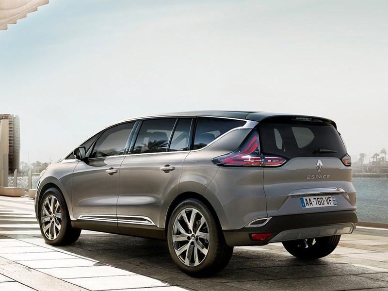 Renault Espace 2015 вид сбоку сзади
