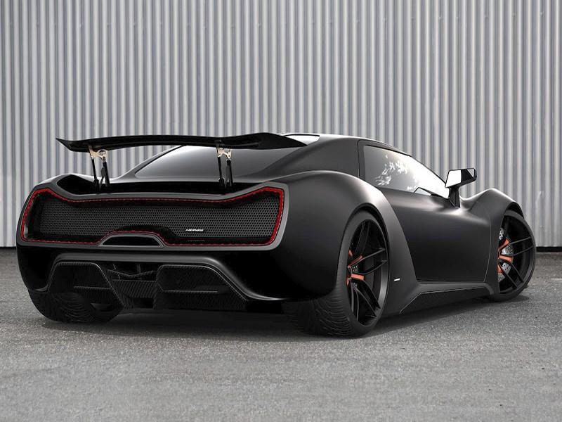 Trion SuperCars Nemesis 2015 вид сзади черный