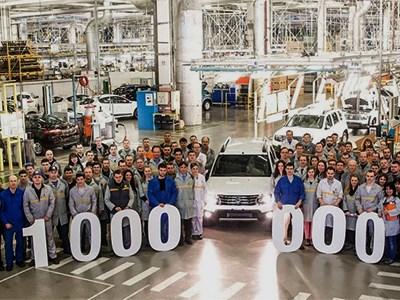 На московском предприятии Renault собран миллионный автомобиль