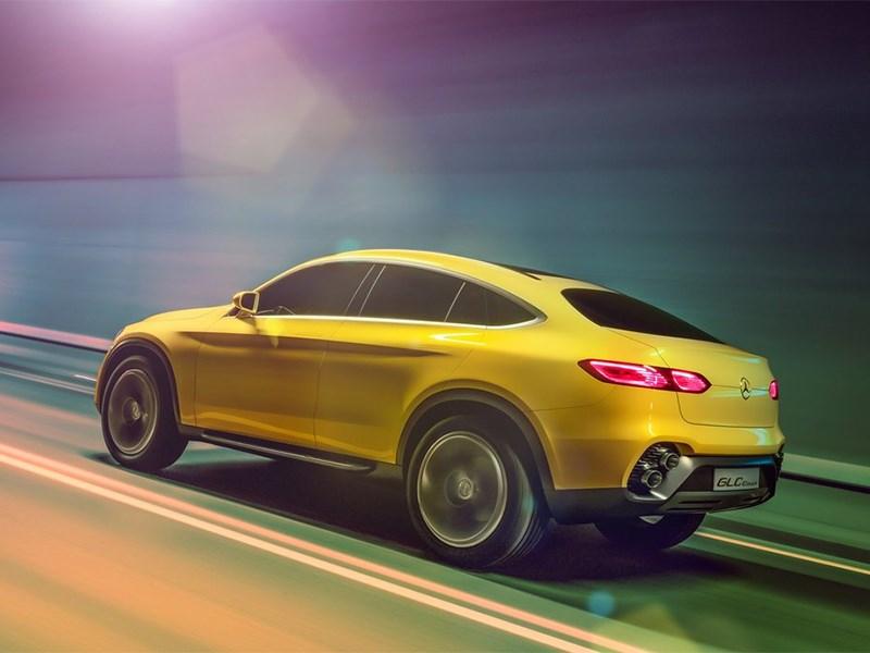 Mercedes-Benz GLC Coupe Concept 2015 вид сбоку сзади